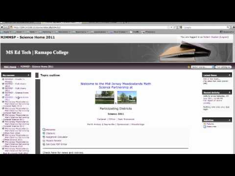Moodle Login Tutorial - YouTube