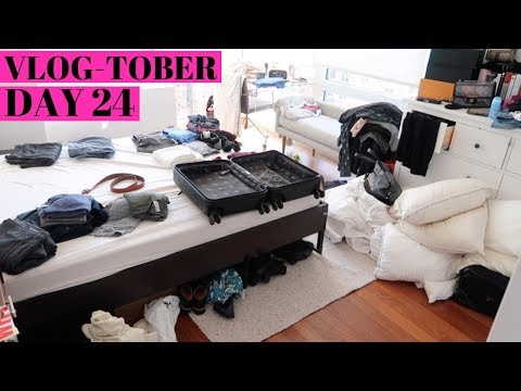 How Real People Pack - New York City Lifestyle     VLOGTOBER Day 24, 2018