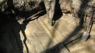 Раскопки немецких палаток, Блиндажи и находки на металлоискатель