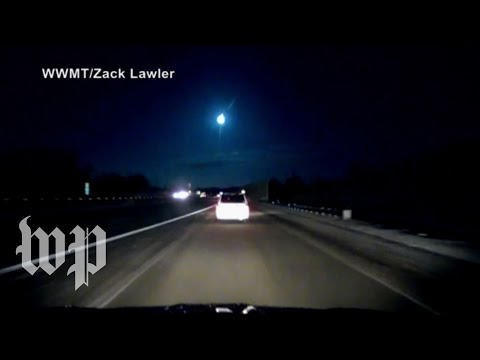 Watch meteor light up Michigan sky