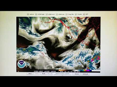 4-18-2018;  High Pressure Installed ON TOP OF JET STREAM Flowing Into Low Pressure Moving By CA!