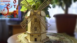 Wooden Puzzle Holland Windmill обзор. Деревянный конструктор мельница Holland Windmill