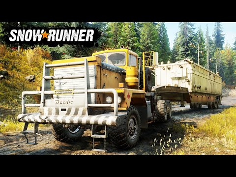 NEW SNOWRUNNER LIVE - Finding the Pacific P16 GIANT TRUCK - Snowrunner PC Gameplay - 동영상