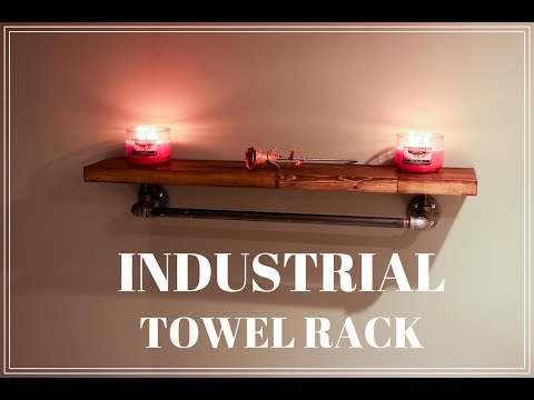 Industrial Towel Rack DIY