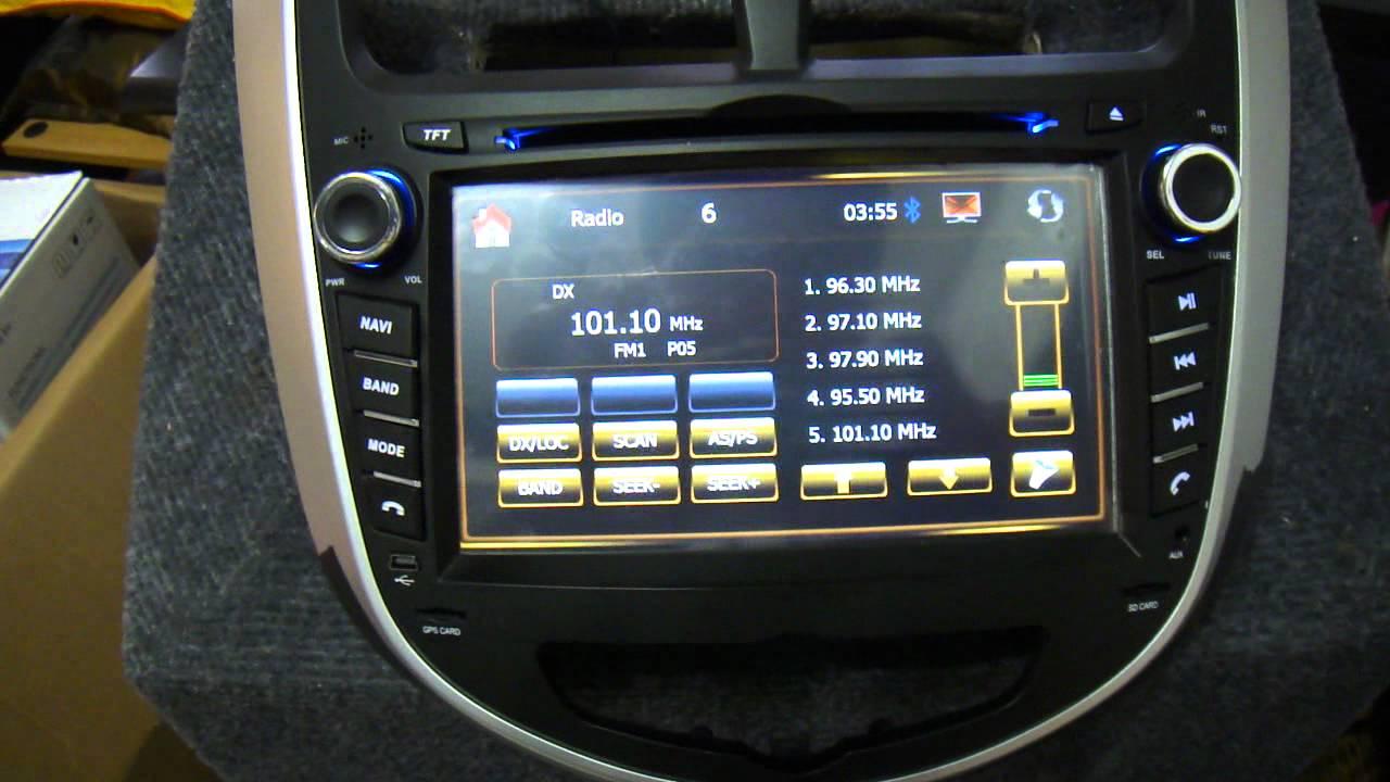 Hyundai Accent Oem Head Unit Youtube
