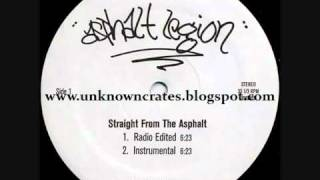Asphalt Legion   Straight From The Asphalt rare random rap