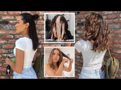 NEW HAIR + HOW I CUT MY HAIR AT HOME | Marie Jay
