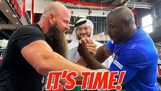 MICHAEL TODD VS KHALED (AWA) | ARMWRESTLING *BONUS UNSEEN FOOTAGE interview with Michael