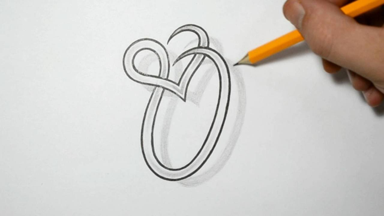 Letter O And Heart Combined