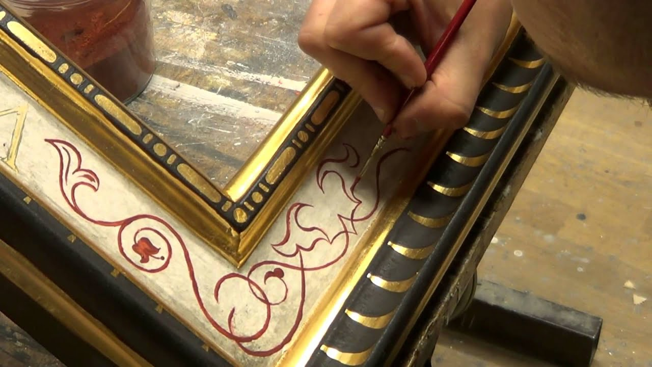 making a 16th century style cassetta frame youtube. Black Bedroom Furniture Sets. Home Design Ideas