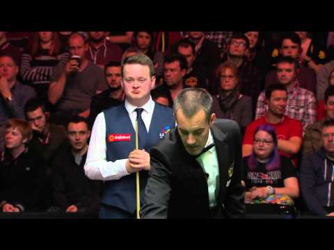Shaun Murphy misses clear red 3 times against Mark Allen | 2016 Dafabet Masters