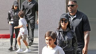 Mason Disick Opts To Take A Walk With The Bodyguard Over Taking A Ride With Mom Kourtney Kardashian