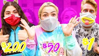 MAKING DIY MASKS $1 VS $200 CHALLENGE!