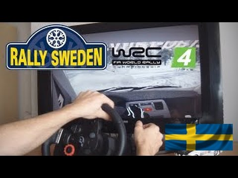 wrc-4:-rally-de-suecia-completo-graficos-ultra-pc-volante-driving-force-gt