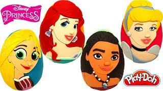 4 Ovos Surpresas das Princesas da Disney Cinderela, Ariel, Rapunzel e Moana