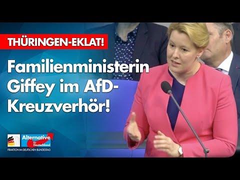 Thüringen-Eklat! Giffey im AfD-Kreuzverhör!