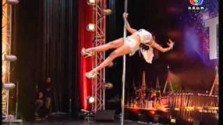Repeat youtube video Thailand's Got Talent - ปาจรีย์ [pole dance]