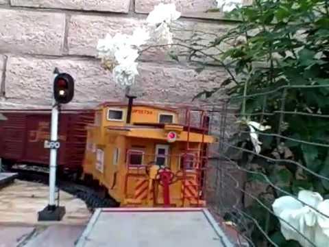 Backyard Train ride - YouTube
