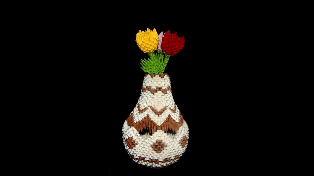 3d origami vase tutorial 1 diy paper vase youtube 3d origami vase tutorial 1 diy paper vase floridaeventfo Image collections
