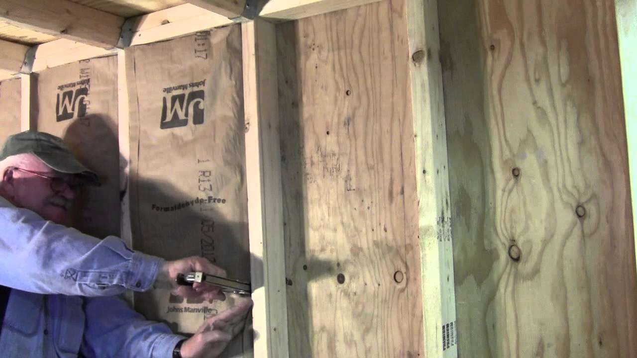 Elegant INSULATING INTERIOR WALLS PT 1 OF 2 READ DISCRIPTION   YouTube