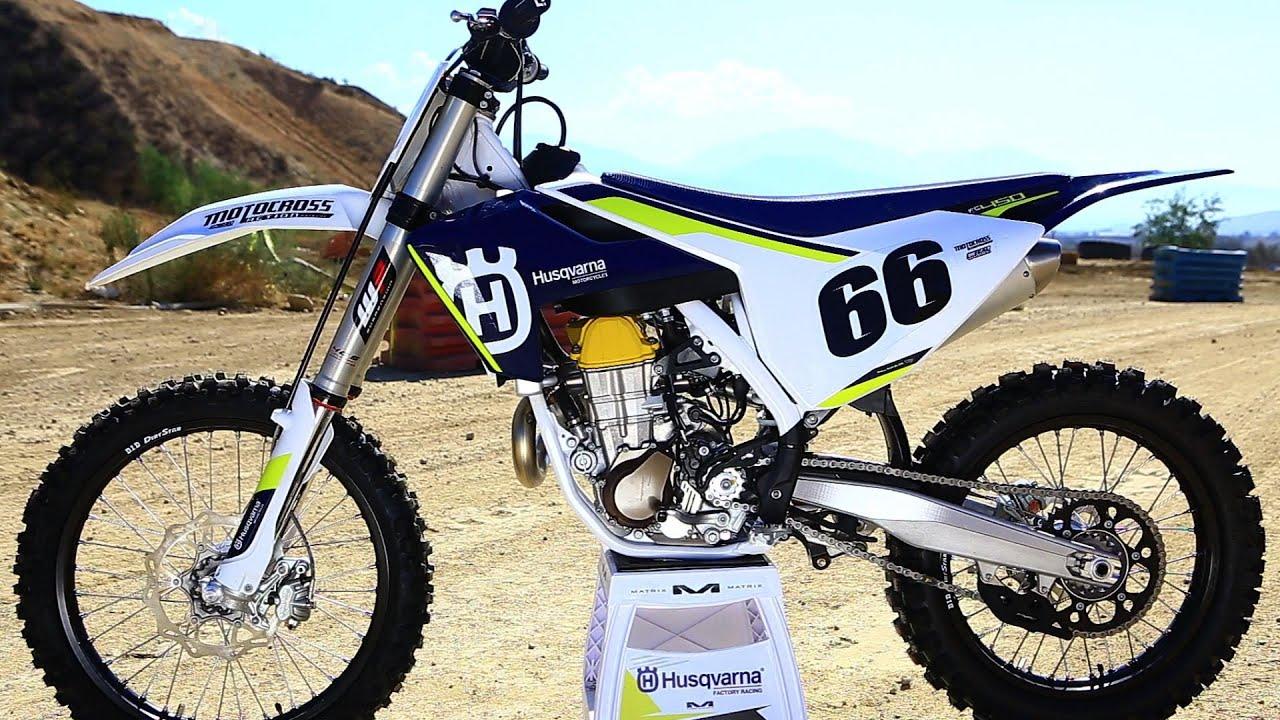 first ride 2016 husqvarna fc450 - motocross action magazine - youtube