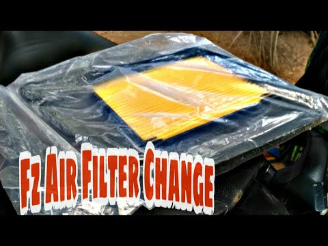Yamaha Fz | Fz16 Air filter changing | change | cleaning
