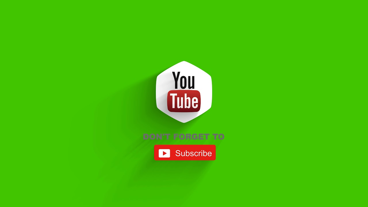 Intro Youtube Logo Green Screen Youtube Promo Template Free 2019 Youtube