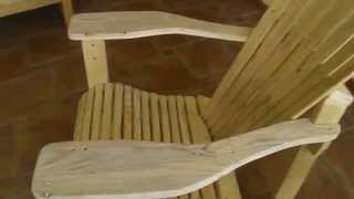 Homemade *** FREE of charge *** DIY AMERICAN Adirondack Chair using PALLETS