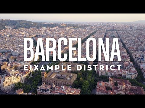 Barcelona - Eixample District | 4K Drone