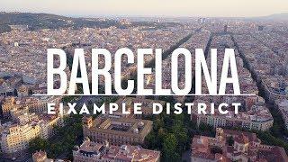 Barcelona - Eixample District | 4K Drone