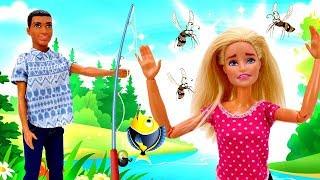 Барби и Кен на рыбалке - Смешные видео - Мультики с куклами