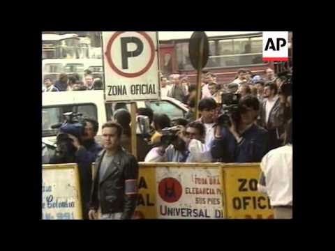 COLOMBIA: SANTIAGO MEDINA IS ARRAIGNED OVER DRUG MONEY CHARGES