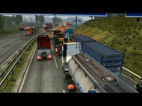 Euro Truck Simulator 2 | A Dover con camino Bloqueado