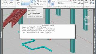 Routing Pipe with AutoCAD Plant 3D (Part 1)