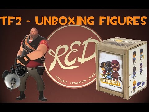 TF2 - Unboxing Figures (RED Heavy and Vinyl Figure)