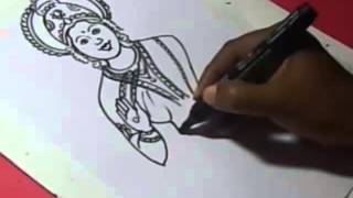How to Draw LORD LAKSHMI DRAWING step by step for KIDS