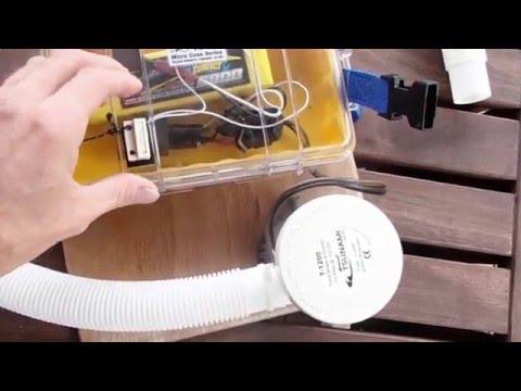 Portable, light weight, high flow bilge pump.