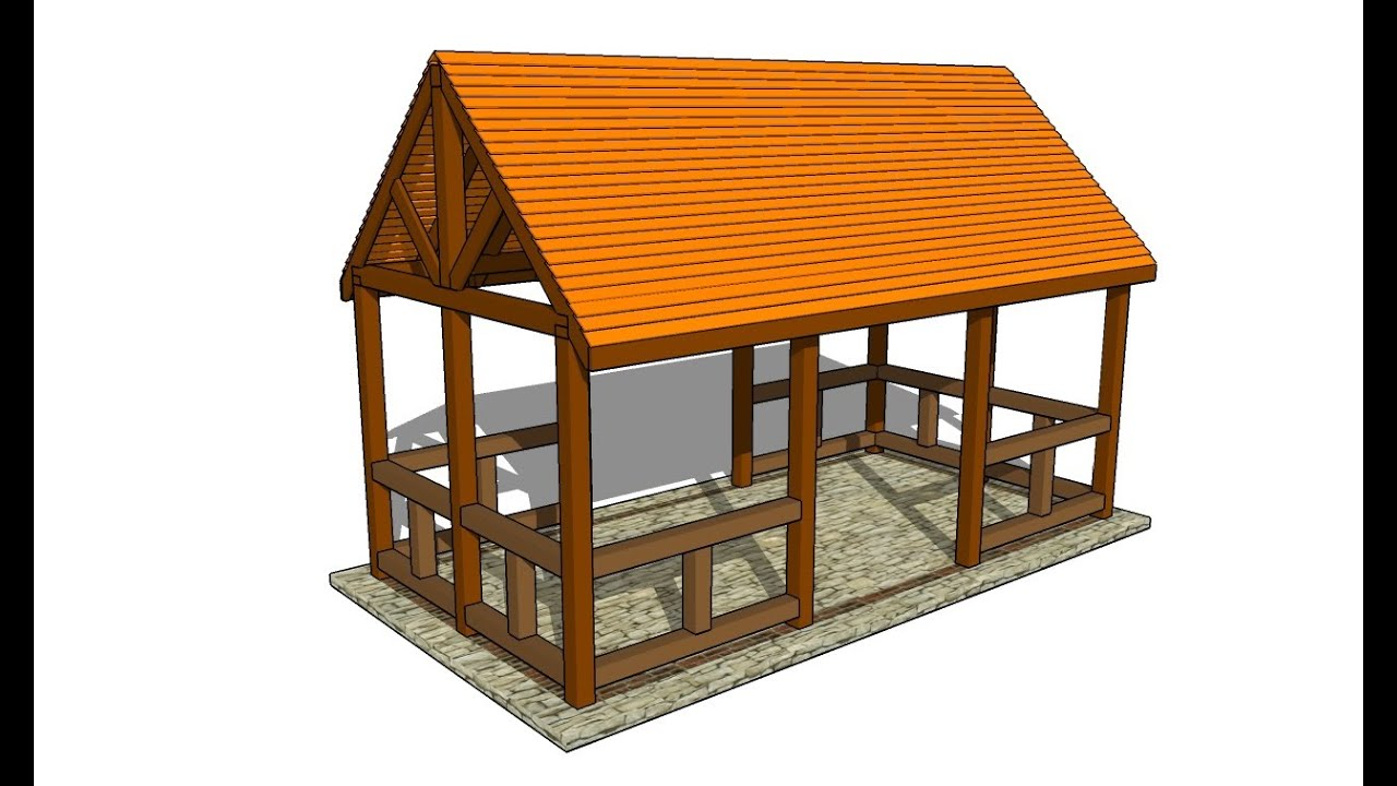 Outdoor Pavilion Plans   YouTube