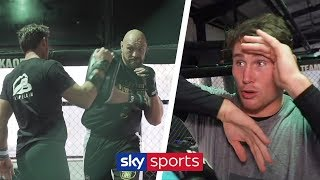 Darren Till demonstrates what he would teach Tyson Fury if he fought in UFC