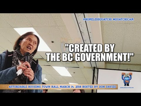 Affordable Housing Town Hall hosted by Don Davies | Vancouver | HomelessQuatchi.com