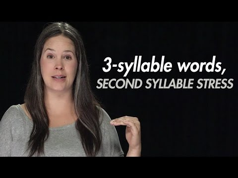 English Stress:  3-syllable Words