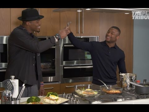 Cam Newton - Cooking with Leonard Johnson