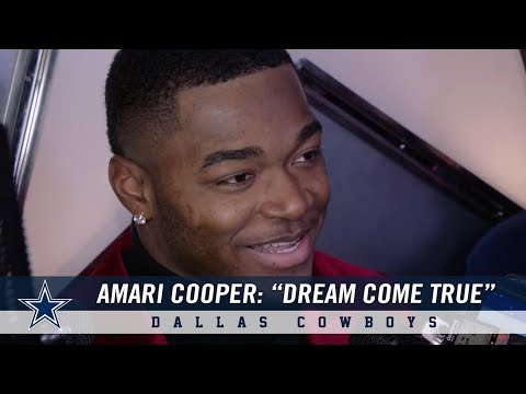 "Amari Cooper Following Cowboys Victory: ""This is a dream come true for me"" 