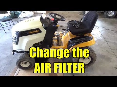 Cub Cadet LTX 1042 KW | How to Change the Air Filter