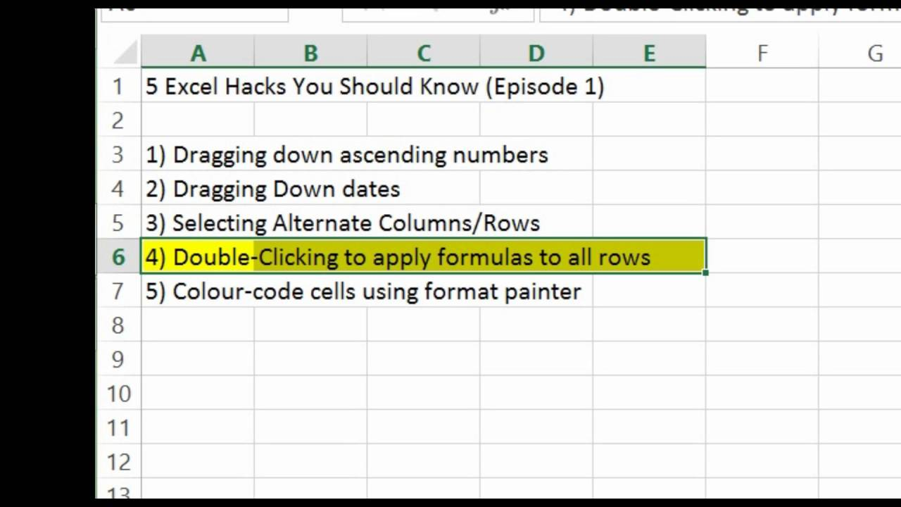 20 Excel Hacks you need to KNOW 20