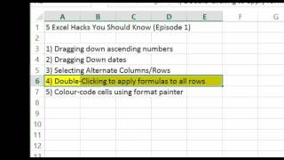 5 Excel Hacks you need to KNOW! #8