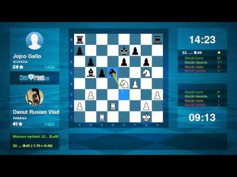 Chess Game Analysis: Danut Rusian Vlad - Jojco Gallo : 1-0 (By ChessFriends.com)