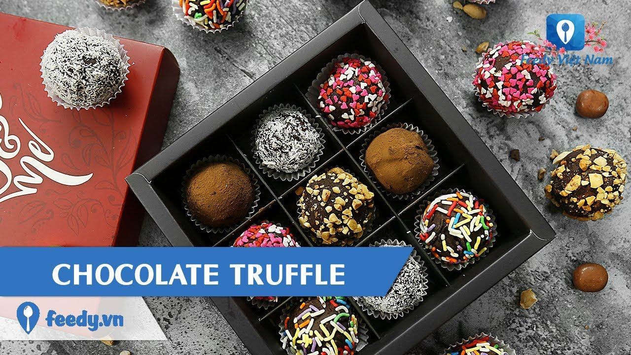 Hướng dẫn cách làm món CHOCOLATE TRUFFLE | Feedy VN