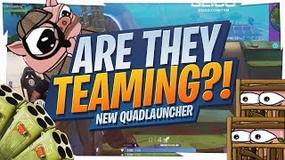DESTROYING TEAMERS IN SOLOS! QUAD LAUNCHER GAMEPLAY (Fortnite BR Full Game)