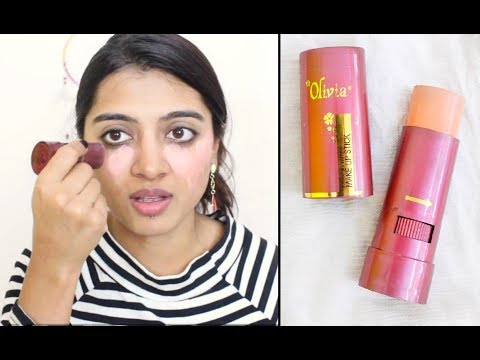 Olivia Pan-Stick Review _ | How to use Olivia makeup stick concealer foundation SuperWowStyle Prachi